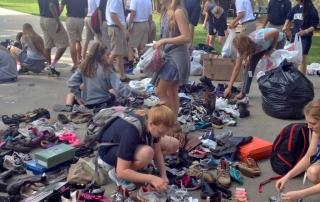 Dunham school shoe drive 2013 2